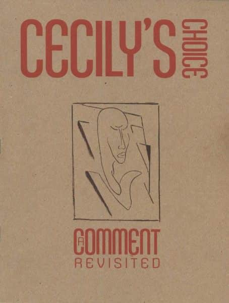 'Cecily's Choice: a Comment revisited', forthcoming publication