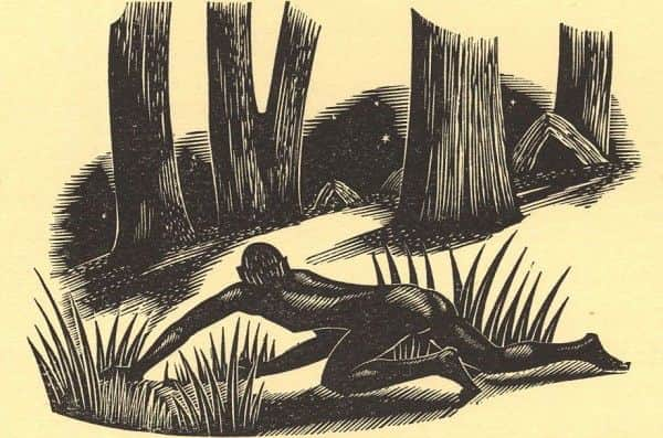"""Illustration from Gibbings """"John Graham: Convict"""""""