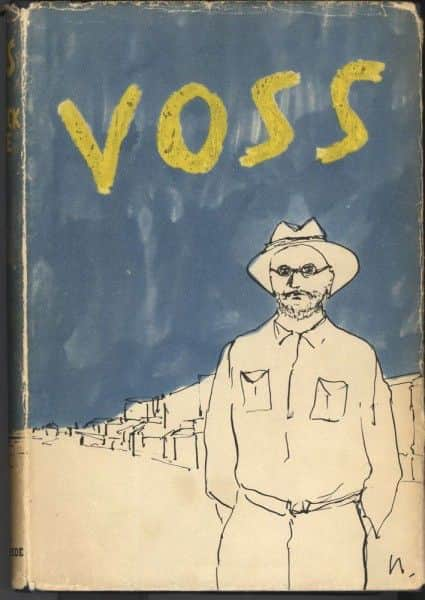 """Sidney Nolan's book cover for """"Voss"""", 1957"""