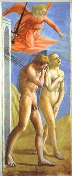 "Masaccio's ""Expulsion from the Garden of Eden"", post-restoration"