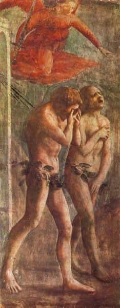 "Masaccio's ""Expulsion from the Garden of Eden"", pre-restoration"