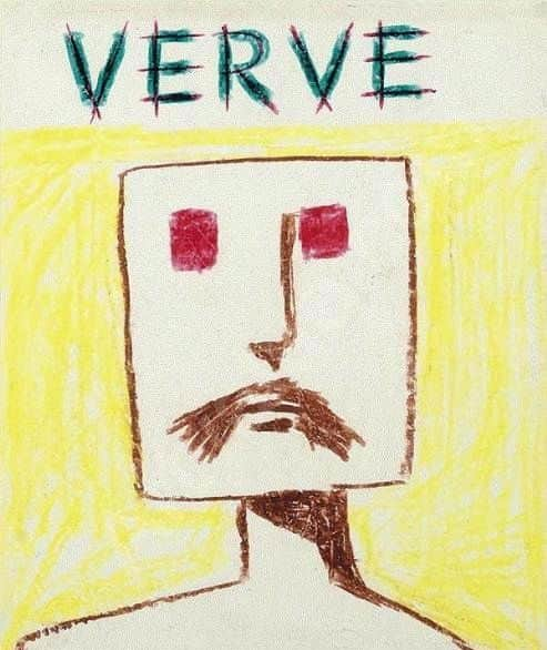 "Sidney Nolan, drawing for proposed cover of ""Verve"", 1950s."