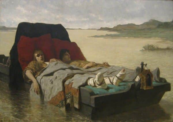 'The Sons of Clovis II', oil on canvas, by Évarsity Vital Luminais, 1880, Art Gallery of New South Wales