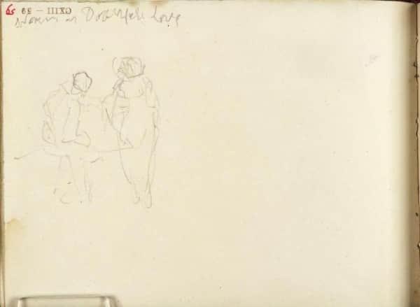 Two Figures, JMW Turner, 1809