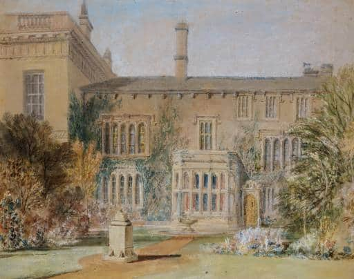 The East Front of Farnley Hall, with the Flower Garden and a Sundial, 1815 by JMW Turner