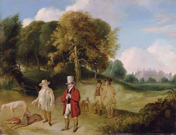 J.M.W. Turner and Walter Fawkes at Farnley Hall, between 1820 and 1824, John R Wildman