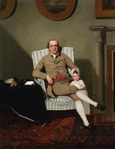 Robert Grimston and his daughter Lucy, about 1776, Circle of Francis Wheatley