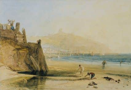 """Scarborough Castle: Boys Crab Fishing"", JMW Turner, 1809"