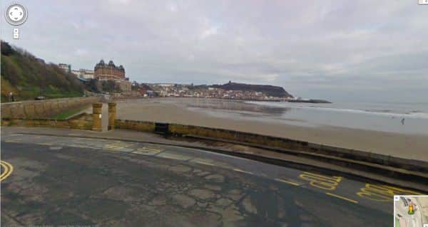 Turner's viewpoint at Scarborough, 200 years on.