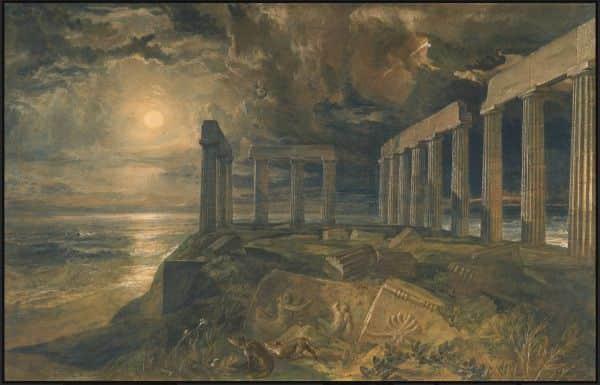 The Temple of Poseidon at Sunium (Cape Colonna), JMW Turner, 1834