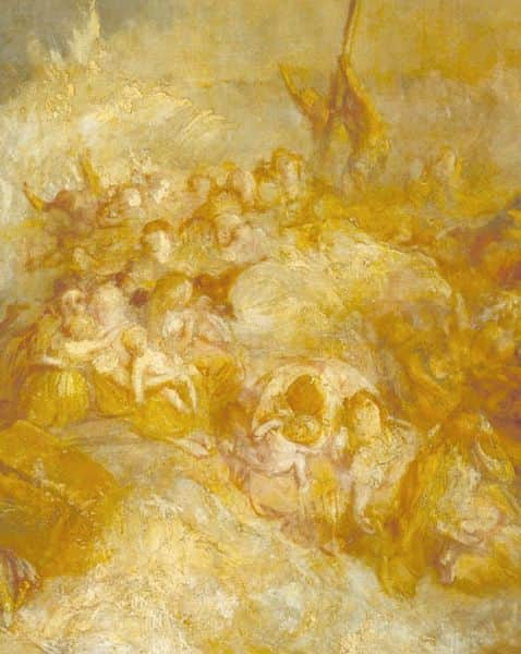 "Detail from ""Disaster at Sea - The loss of the AMPHITRITE"", JMW Turner"
