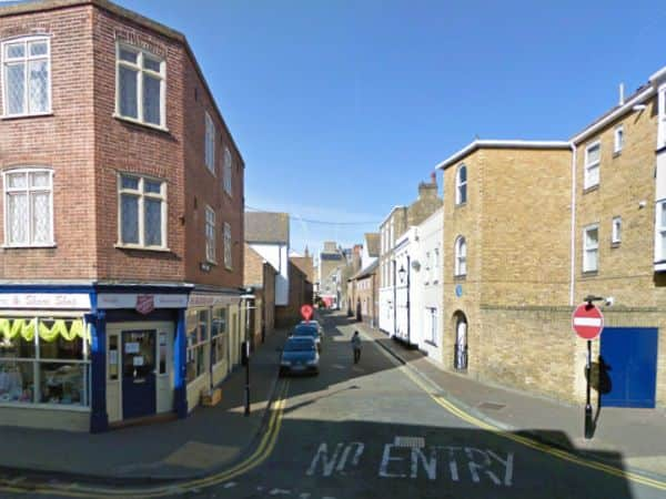 Love Lane, Margate, as it is today. Coleman's School was probably on the corner right.