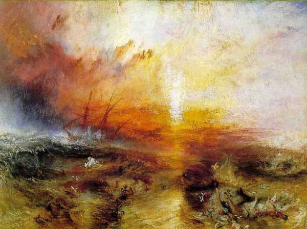 Slave Ship (Slavers Throwing over the Dead and Dying, Typhoon Coming On), 1840, JMW Turner