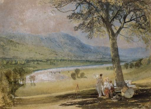 """The Wharfe from Farnley Hall"", JMW Turner, 1818"