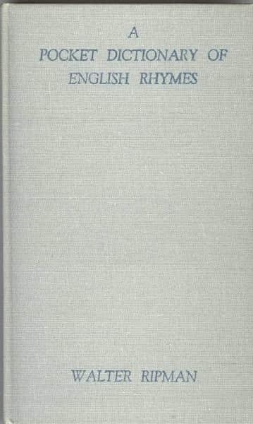 Ripman's Dictionary of English Rhymes