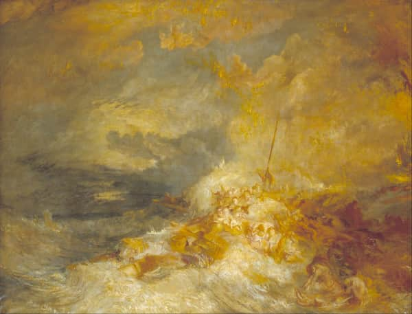 """Disaster at Sea. The Loss of the Amphitrite"", JMW Turner, c. 1835"