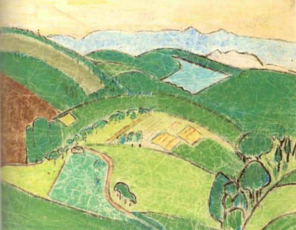 """Landscape"", c 1933, Sunday Reed, Private collection."