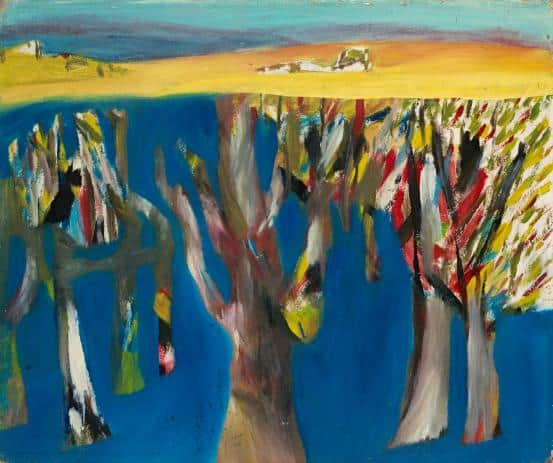 """Lagoon Wimmera"", 1943, Sidney Nolan, NGV collection."