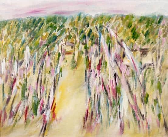 """Little Desert"", 1943, Sidney Nolan, NGV collection."