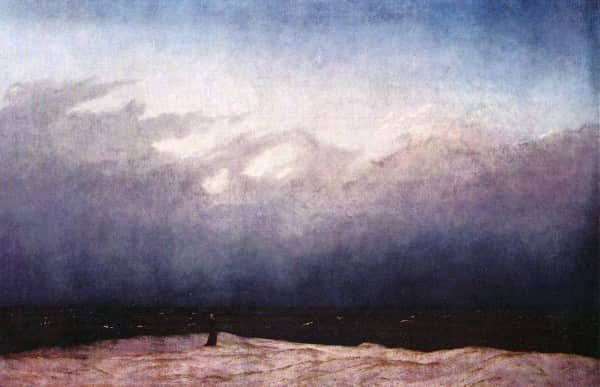 """The Monk by the Sea"", 1808-1810, Caspar David Friedrich, Alte Nationalgalerie Berlin collection."