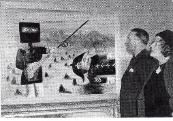 City of South Melbourne Arts Festival, May-June 1946. The first exhibition of a Kelly painting. The woman is Esther Paterson, the aunt of Nolan's first wife Elizabeth.