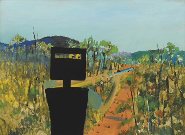 """First Class Marksman"", Sidney Nolan, December 1946, AGNSW collection."
