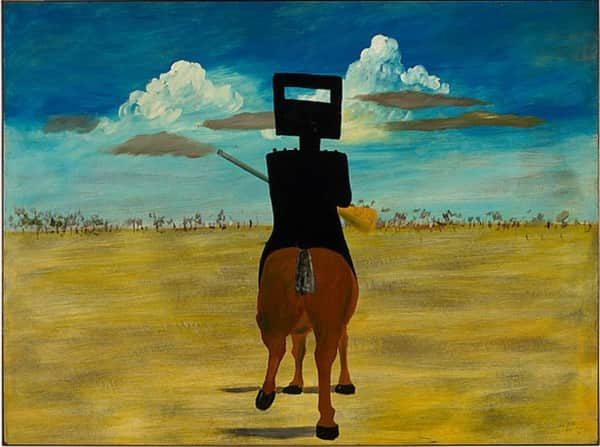 """Ned Kelly"", August 1946, Sidney Nolan, NGA collection."