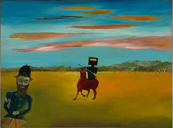 """The encounter"", September 1946, Sidney Nolan, NGA collection."