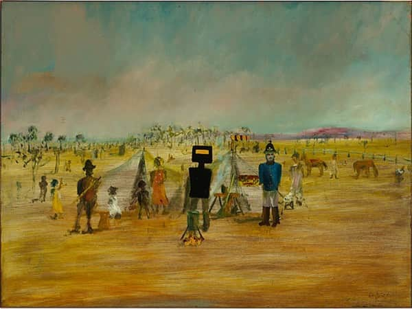 """Bush picnic"", September 1946, Sidney Nolan, NGA collection."