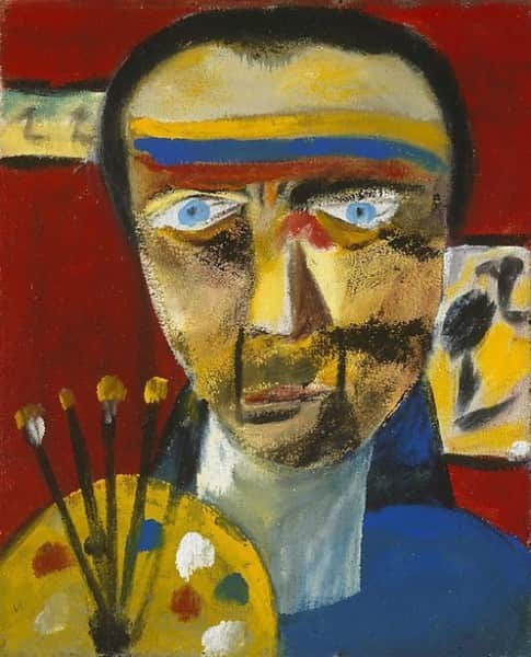 """Self Portrait"", 1943, Sidney Nolan, AGNSW collection."