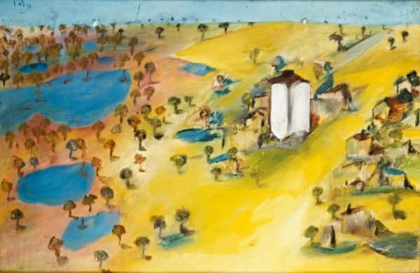 """""""Wimmera (from Mt Arapiles)"""", 1943, Sidney Nolan, NGV collection."""