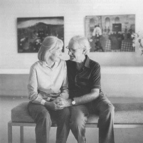 Sidney Nolan and his wife Mary at Heide, 1982, photo by Herald and Weekly Times
