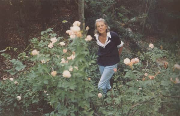 Sunday Reed in Rosa Mutabilis, c. 1974, photo by John Sinclair