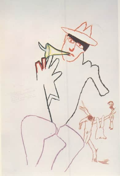 "Sidney Nolan, ""Boult to Marina"" from ""The Darkening Ecliptic"", 1974"