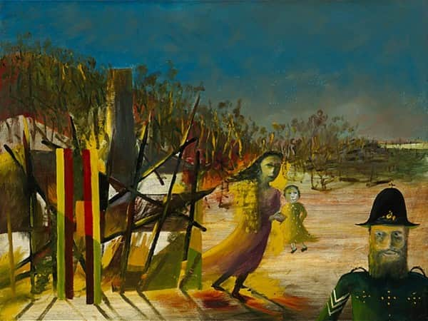 """Mrs Reardon at Glenrowan"", October 1946, Sidney Nolan, NGA collection."