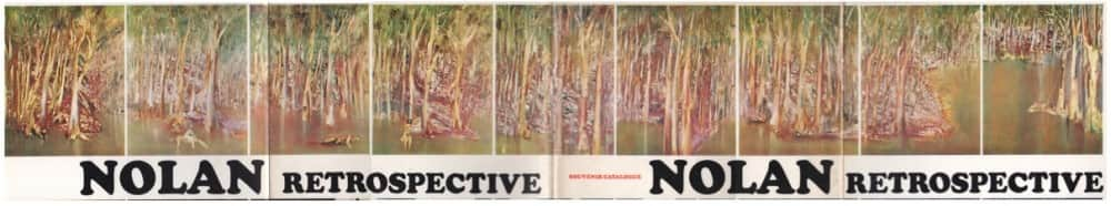 "Detail, cover of catalogue, ""Sidney Nolan retrospective exhibition: paintings from 1937 to 1967"", 1967, AGNSW"