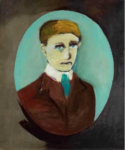 """Portrait of Barrett Reid"", Sidney Nolan, 1947, QAG collection"