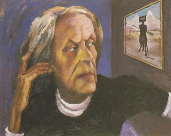 """Albert Tucker, """"Portrait of Sunday Reed"""", 1984"""