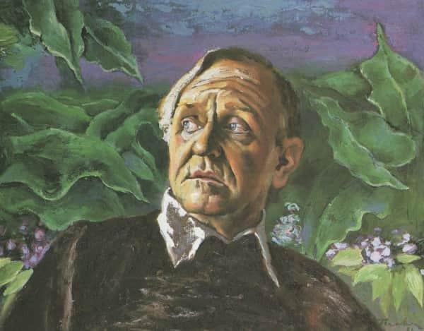 "Albert Tucker, ""Portrait of Barrett Reid"", 1984"
