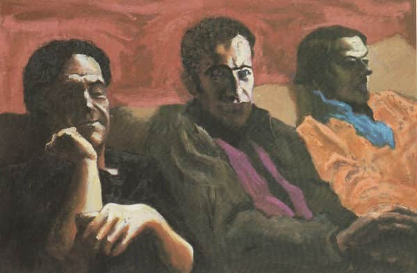 "Albert Tucker, ""John Reed, Sidney Nolan and Sunday Reed"", 1983"