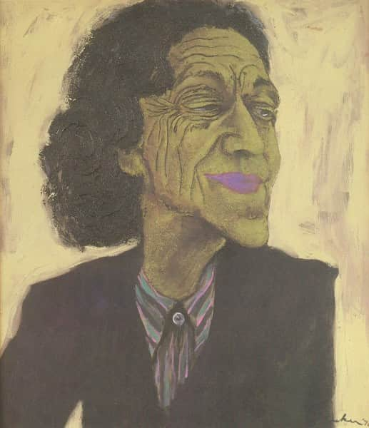 "Albert Tucker, ""Portrait of Cynthia Nolan"", 1976"