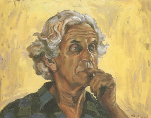 "Albert Tucker, ""Portrait of John Reed"", 1985"