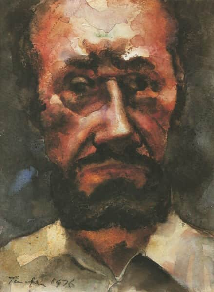 "Albert Tucker, ""Self portrait"", 1976"